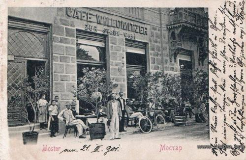 Fejićeva - kafe Stadt Wien 1900-tih Vakufski dvor podignut 1898 2